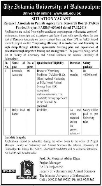 the-islamia-university-bahawalpur-iub-jobs-2020-apply-online