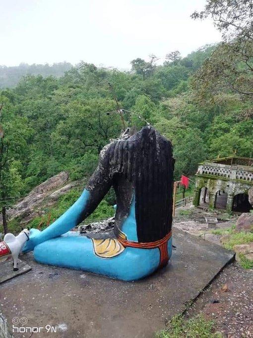 Lord Shiva Idols destroyed in Morgaon, Maharashtra