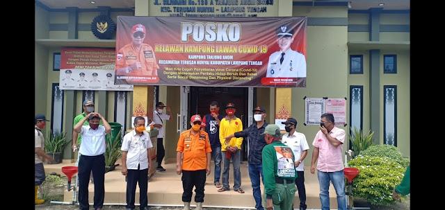 Bupati Lamteng Apresiasi kampung Tanjung Anom, Ada Rumah Isolasi