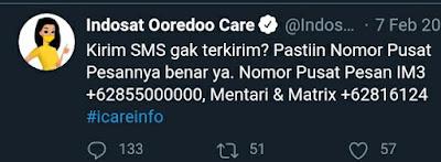 Nomor Pusat Pesan Indosat SMSC