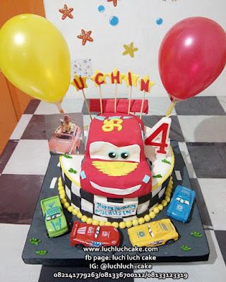 Kue Tart Fondant Cars 3d Cake
