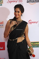 Sindhu looks fabulous in Black Saree designer choli at Mirchi Music Awards South 2017 ~  Exclusive Celebrities Galleries 007.JPG