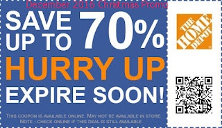 Home Depot coupons december 2016
