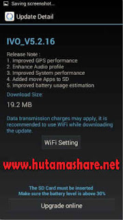 Update software Powerphone Bolt IVO