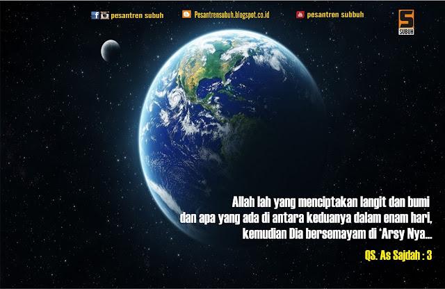 Image result for ayat alquran tentang ciptaan bumi