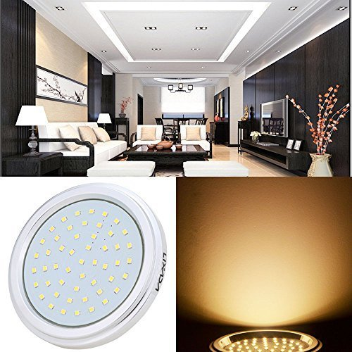 lixada g53 led spot plafond d 39 int rieur pour salon chambre. Black Bedroom Furniture Sets. Home Design Ideas