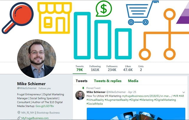 mike schiemer influencer marketing Twitter