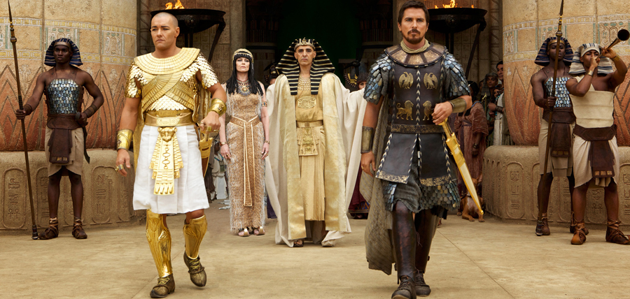 Joel Edgerton şi Christian Bale în filmul Exodus: Gods and Kings