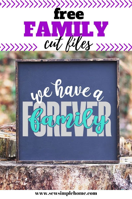Download the free family cut file to create your own signs, tshirts or wall hangings.