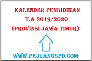 Update Terbaru: Kalender pendidikan Provinsi Jawa Timur Tahun ajaran 2019/2020