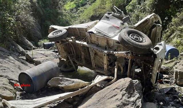 हिमाचल: तीस मीटर गहरी खाई में जा समाई पिकअप, नहीं बचा ड्राइवर