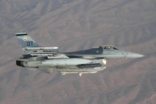 USAF F16 tests BLU136 bomb
