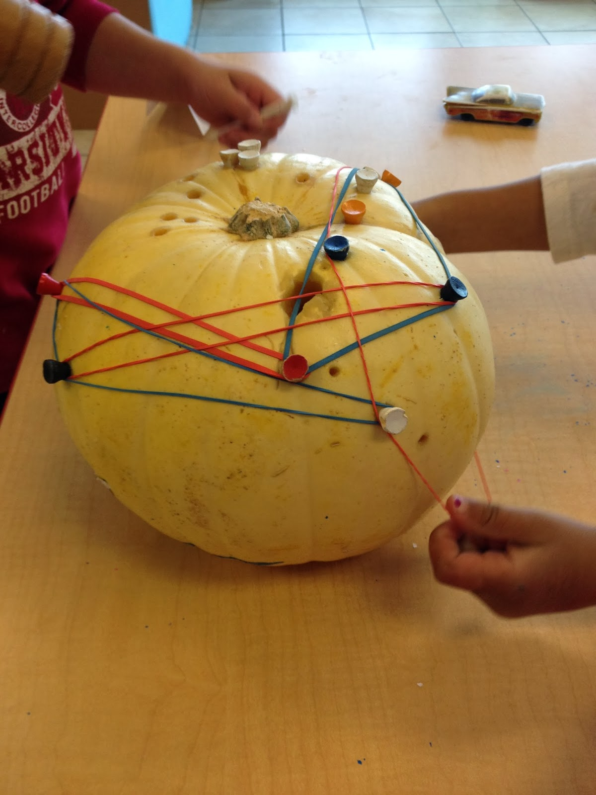 Time For Play Pumpkin Rubber Bands And Golf Tees