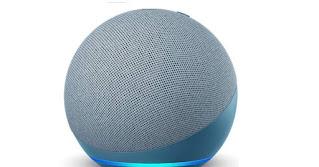 Echo Dot (4th Gen, Blue) Combo with Wipro 9W LED Smart Color Bulb - Smart Home Starter Kit