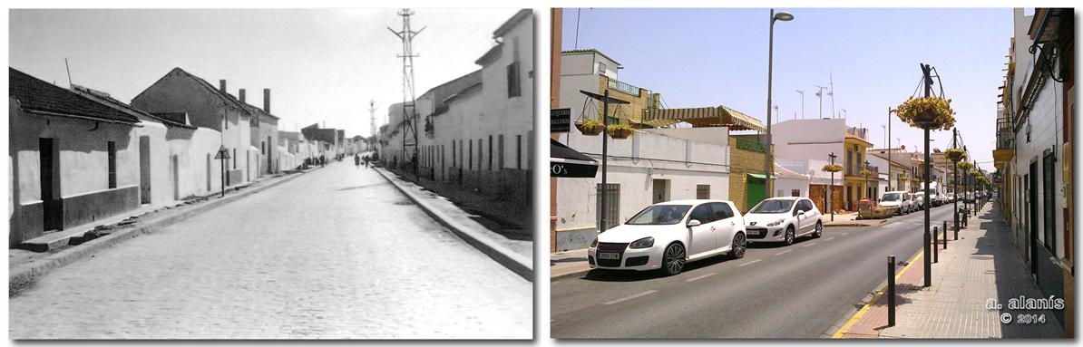 General Sanjurjo, Ayer.-Avenida de Andalucía, Hoy