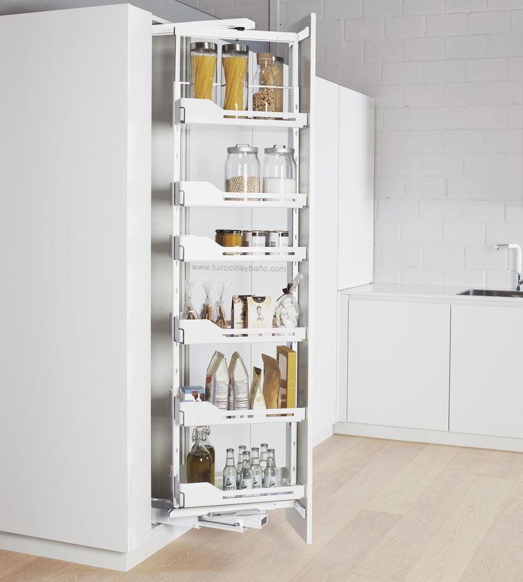 Despensa extraible y giratoria tu cocina y ba o for Muebles en esquina para cocina
