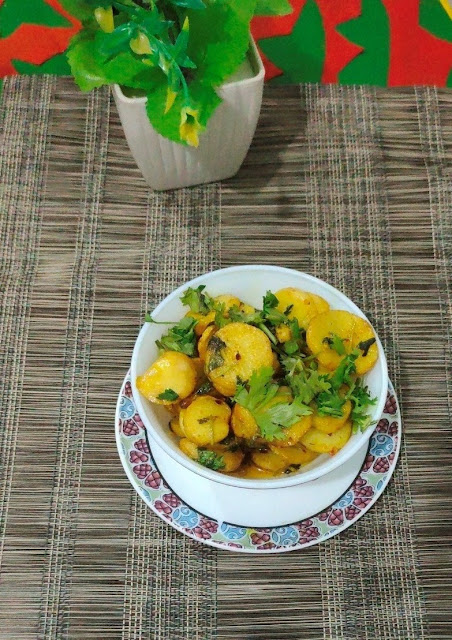 simple arbi fry recipe with step by step photos