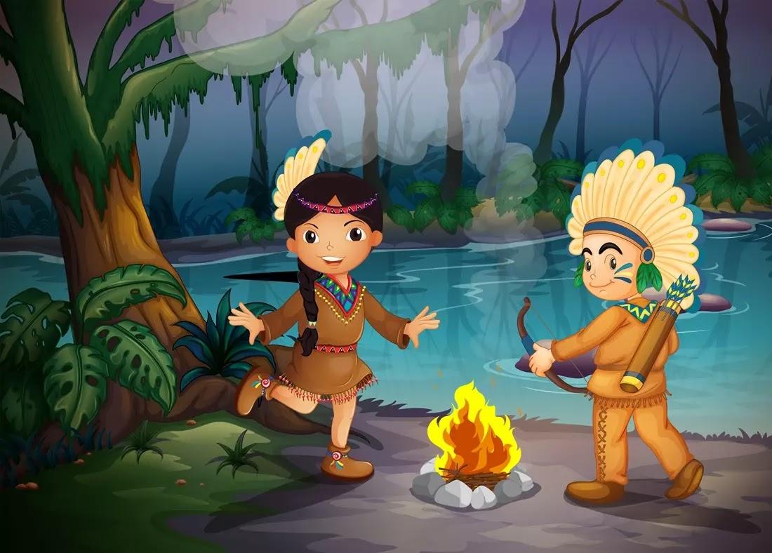 Ilustração de indios