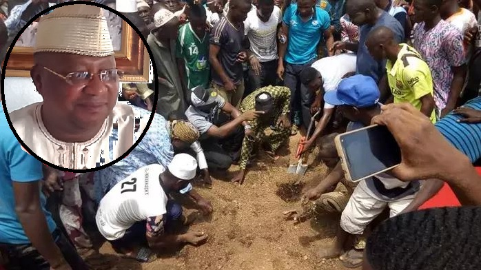 Davido's Uncle Senator Isiaka Adeleke Buried Amid Tears (Photos)