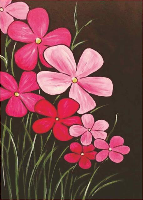 lukisan-bunga-sederhana