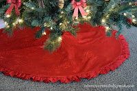 ruffle christmas tree skirt