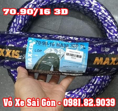 Vỏ xe máy Maxxis 70/90-16 gai kim cương 3D