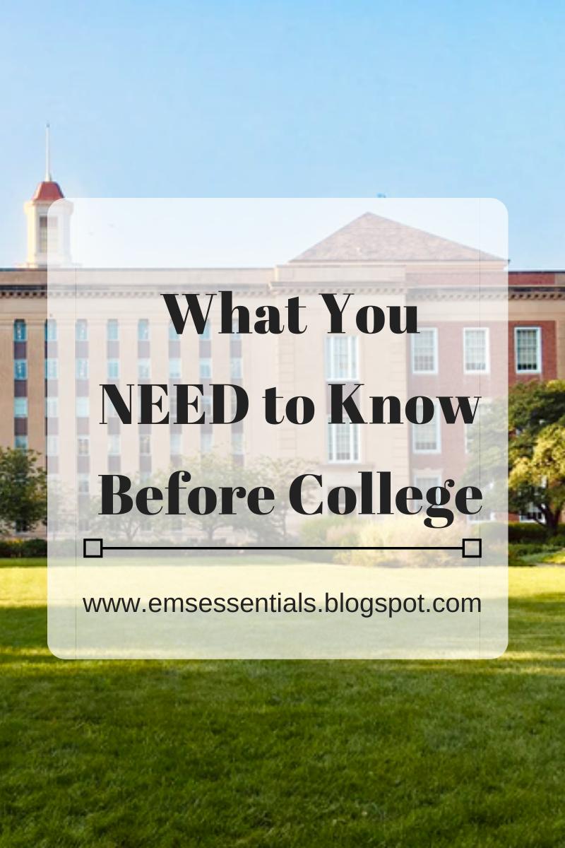 college freshman advice what i wish i knew before college 2020