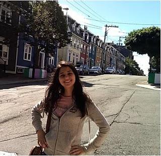casas coloridas em uma rua asfaltada
