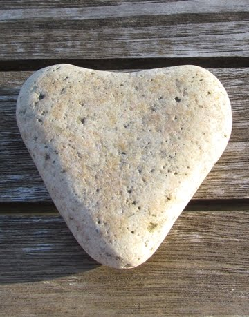 heart beach rock