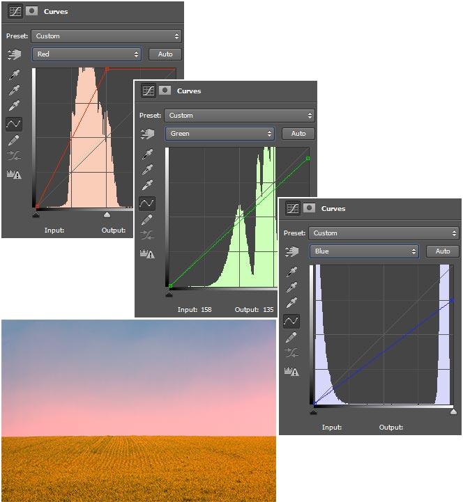 Pengaturan-dan-hasil-merubah-warna-dengan-curves-di-Photoshop