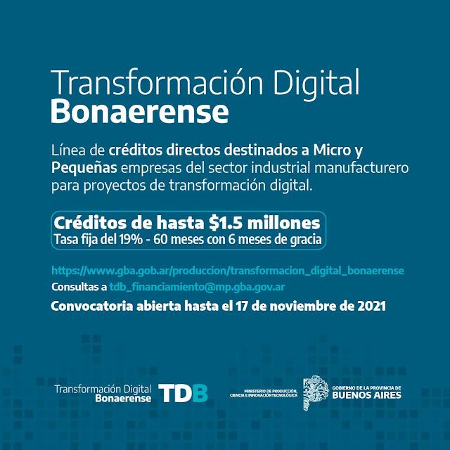 El Ministerio de Producción Ciencia e Innovación Tecnológica otorga créditos a micro o pequeñas empresas.