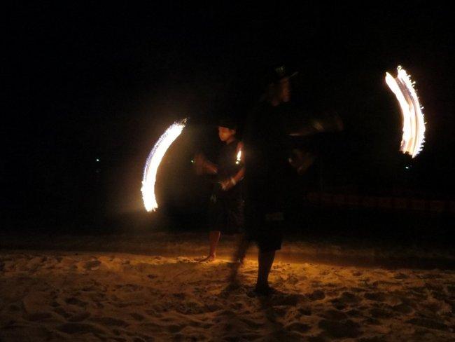 Фаер шоу (огненное шоу) на Тао