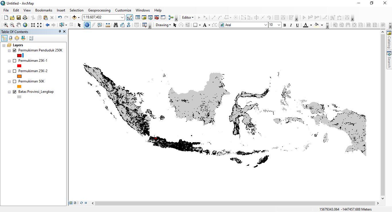Data Shapefile Lingkungan Terbangun Indonesia