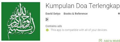 Aplikasi Android Kumpulan Doa Telengkap dalam agama Islam