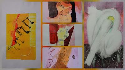 Pintura que traz referências a música e arte.