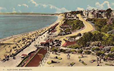 Postcard of Alum Chine, Bournemouth. Printed by Deardon & Wade Bournemouth.Postally unused. Undated
