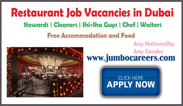 UAE freshers jobs, Restaurant jobs for fresh and experienced,