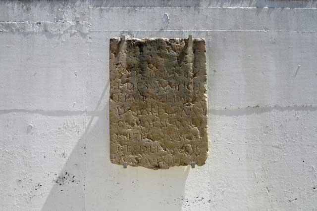 Roman period engraved memorial stone