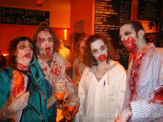 Zombie Cosplayers at bar