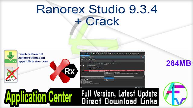 Ranorex Studio 9.3.4 + Crack