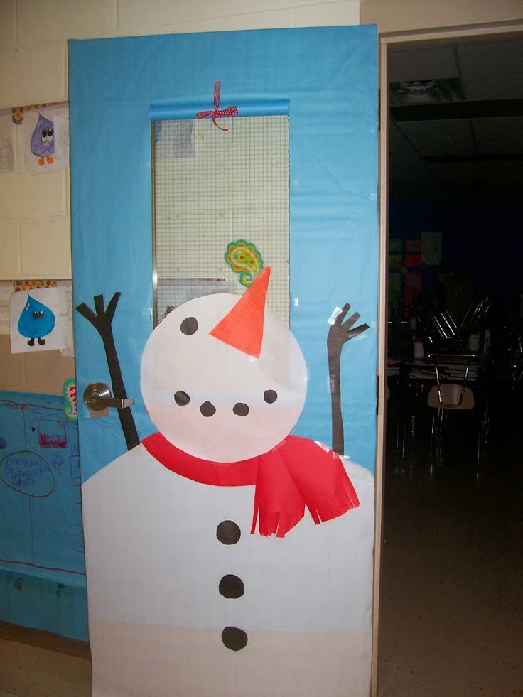 Snowman Door Decorating Contest Ideas