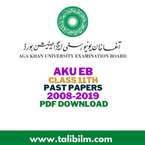 AKU-EB Past Papers HSSC part-I