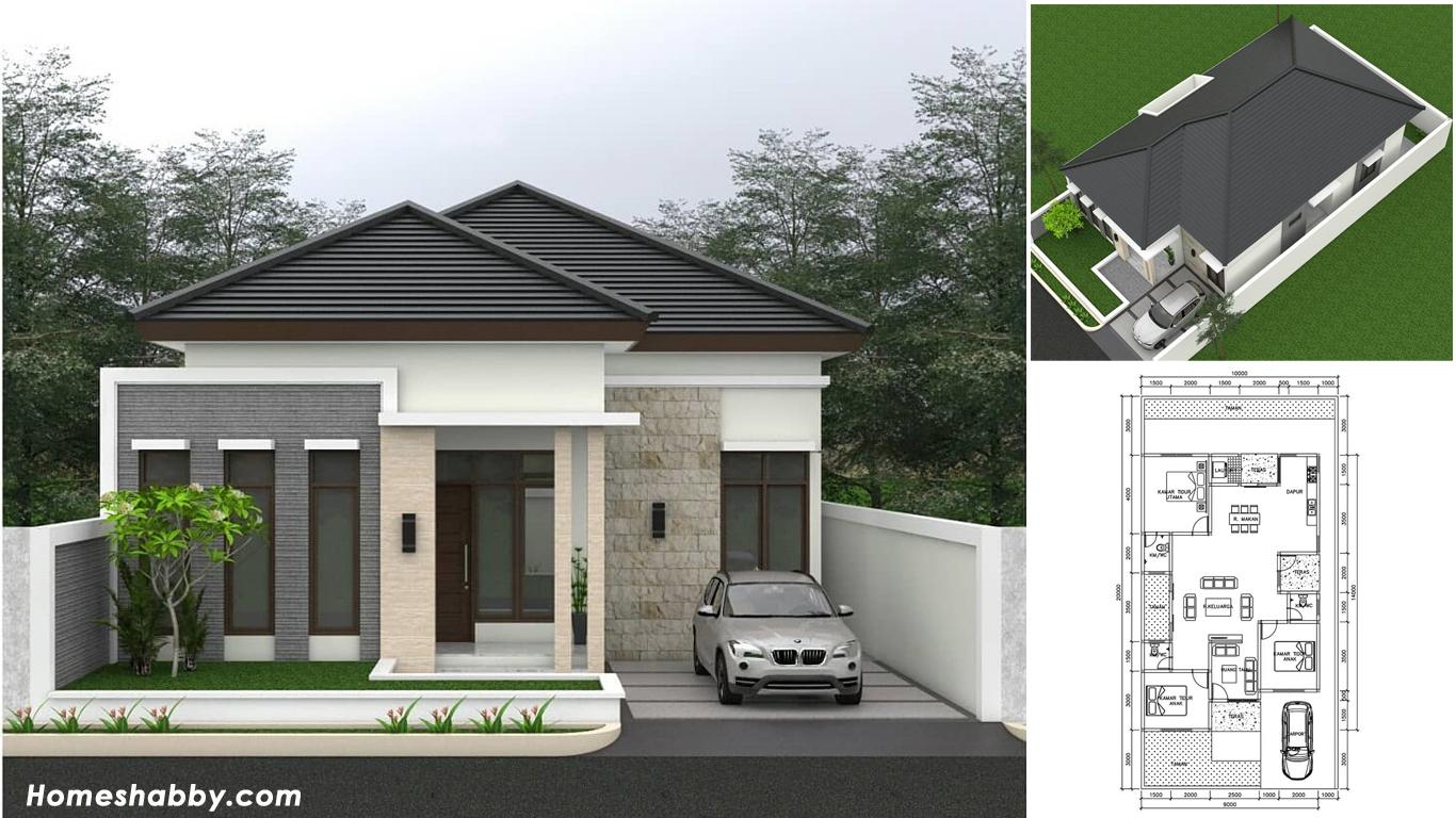 Desain Dan Denah Rumah Minimalis Modern Dengan Atap Limasan Tampil Lebih  Elegan (Lengkap Dengan Ukuran) ~ Homeshabby.com : Design Home Plans, Home  Decorating And Interior Design