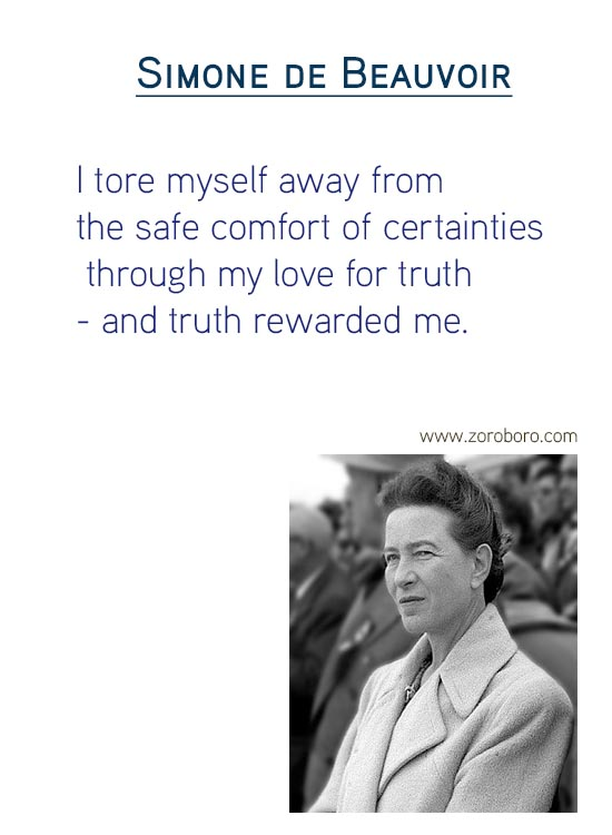 Simone de Beauvoir Quotes on life Quotes , loneliness, man, myself, selfish, travel, woman Quotes & FeminismQuotes ,Simone de Beauvoir Thoughts, Philosophy