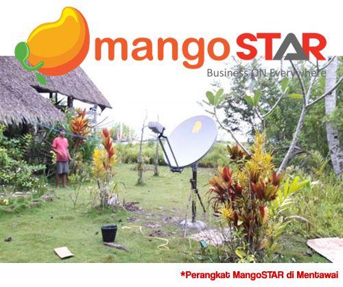 Biaya pasang dan harga paket Telkom Mango Star, internet berbasis satelit