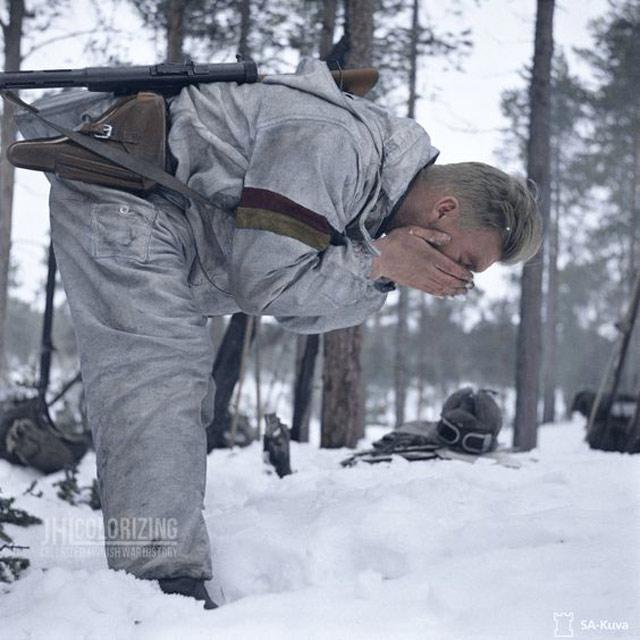 Finnish Army soldier, 24 April 1942 worldwartwo.filminspector.com