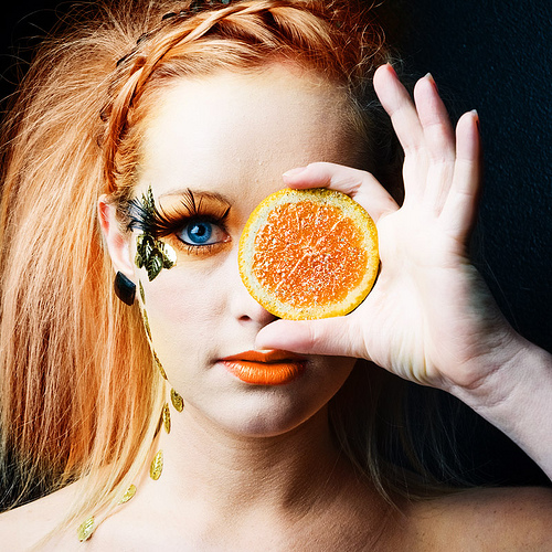 Fashion::Actress,Models and much more .....:: Orange Eye ... - photo#48