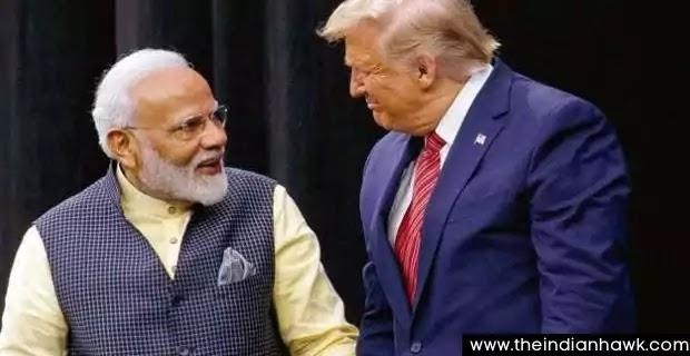 "at the ""Namaste Trump"" event in Ahmedabad, Prime Minister (PM)Narendra Modi and President Donald Trump"