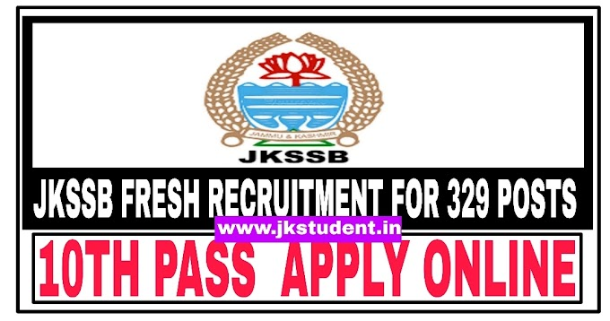 JKSSB Recruitment 2021: 10th Pass Can Apply, Online Link Available- Apply Online Here