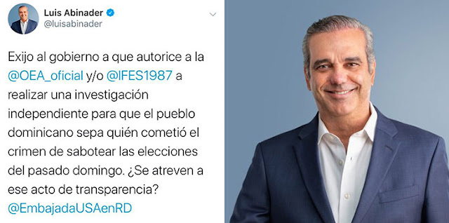 Abinader exige al Gobierno autorizar a OEA e IFES investigar fallas en elecciones